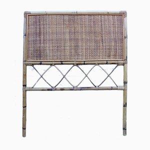 Cabecero de cama italiano de bambú, años 60