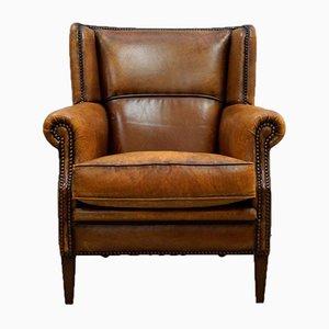 Leather Armchair, 1980s