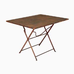 Mesa de jardín plegable vintage