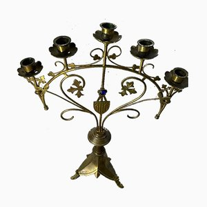 Kirchen-Kerzenständer, 19. Jh., 2er Set