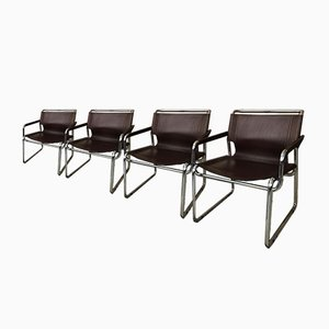 Italian Cantilever Armchairs by Mart Stam and Marcel Breuer for Jox Interni, 1970s, Set of 4
