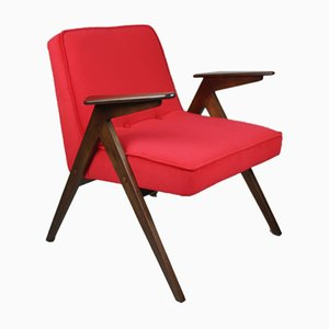 Roter Bunny Sessel von Józef Chierowski, 1970er