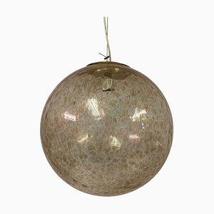 Large Italian Murano Glass Globe Pendant Lamp, 1960s