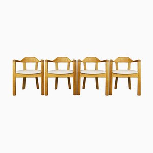 Oak Dining Chairs, Set of 4