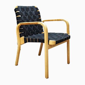 Sedie da pranzo modello 45 di Alvar Aalto per Artek, anni '80, set di 4
