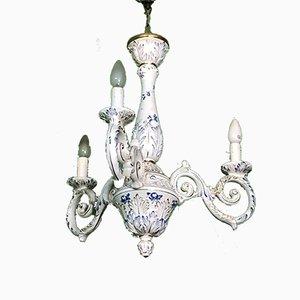 Lámpara de araña inglesa vintage de cerámica