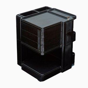 Carrello piccolo vintage nero lucido di Giovanni Pelis per Neolt