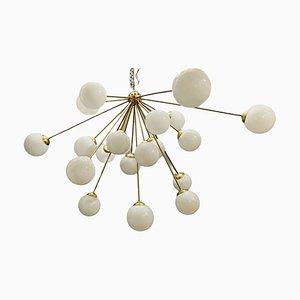 Lámpara de araña Sputnik vintage grande en forma de estrella con 21 luces