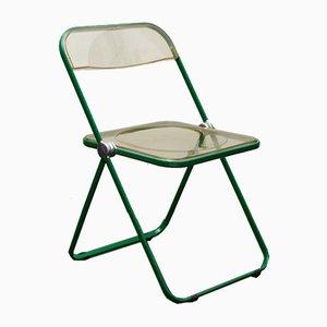 Grüner Plia Stuhl von Giancarlo Piretti für Castles