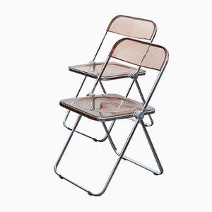 Plia Caramel Stühle von Giancarlo Piretti für Castles, 2er Set