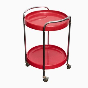 Vintage Round Cherry Red Trolley