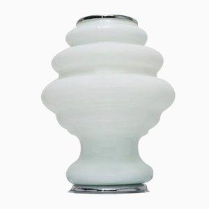 Vintage Opalglas Tischlampe