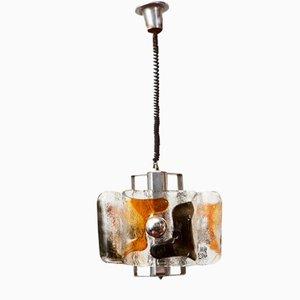 Deckenlampe aus Muranoglas von Mazzega, 1960er