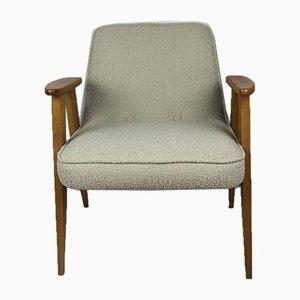 Beige Bouclé Model 366 Lounge Chair by Józef Chierowski, 1970s