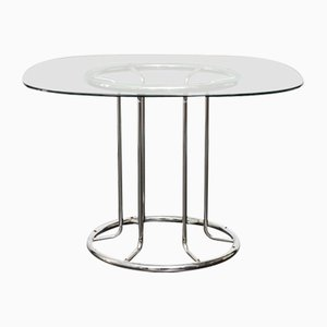 Tubular Steel Dining Table, 1970s