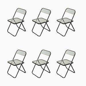 Plia Stühle von Giancarlo Piretti für Castelli, 6er Set