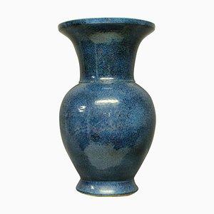 Blau Glasierte Mid-Century Vase