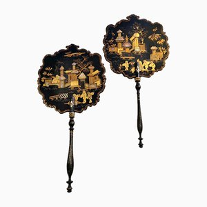 French Napoleon III Chinoiserie Fans, Set of 2