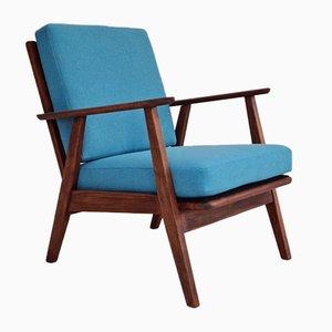 Dänischer Armlehnstuhl mit Trevira Furniture Bezug, 1960er