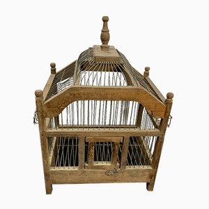 Vintage Vogelkäfig aus Holz & Metall