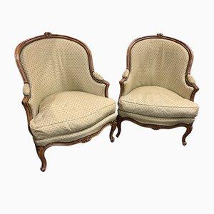 Louis XV Bergère Stühle, 2er Set