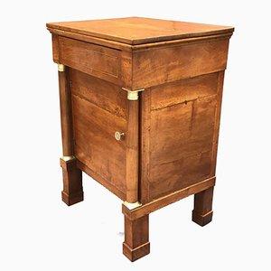 Antique Empire Walnut Bedside Table