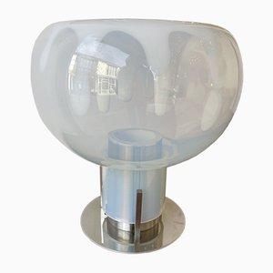 Italienische Murano Glas & Metall Lampe von Toni Zuccheri für Veart, 1970er