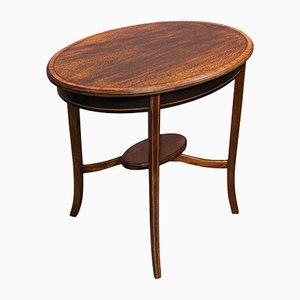 Antique English Regency Mahogany & Walnut Occasional Side Table, 1820s