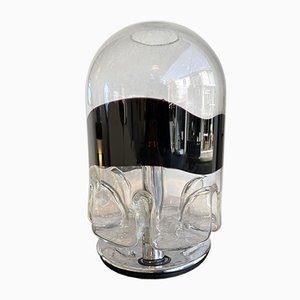 Italian Murano Glass & Metal Casper Lamp by Toni Zuccheri for Veart, 1980s