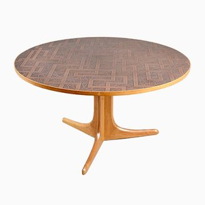 Danish Mid-Century Copper & Teak Coffee Table