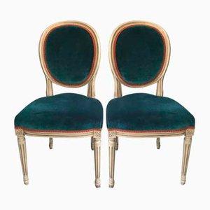 Französische Louis XVI Stühle, Frühes 20. Jahrhundert, 2er Set
