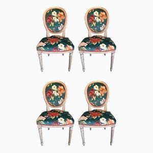 Französische Louis XVI Stühle, Frühes 20. Jahrhundert, 4er Set