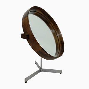 Espejo de mesa sueco de palisandro de Uno & Östen Kristiansson para Luxus, celebrado en torno a 1960
