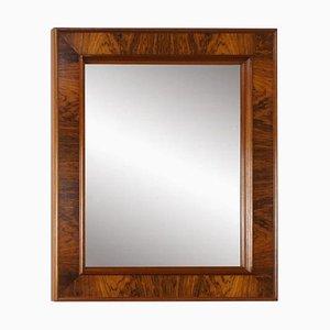 Espejo rectangular de palisandro, años 60