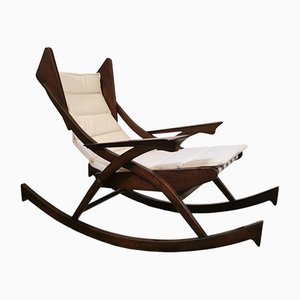 Vintage Italian Rocking Deck Chairs