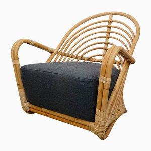 Sedia vintage in vimini di Arne Jacobsen