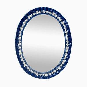 Specchio vintage in porcellana, Italia