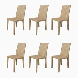 Chairs by Jean-Michel Frank and Adolphe Chanaux for Ecart International, Set of 6