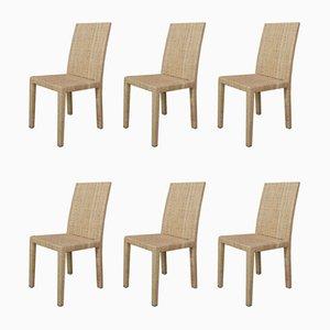 Stühle von Jean-Michel Frank und Adolphe Chanaux für Ecart International, 6er Set