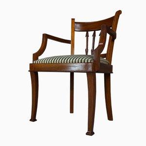 Wood and Velvet Bridge Chair