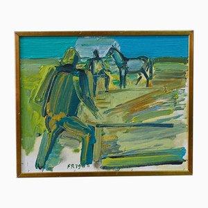 Modernes Ölgemälde von Fredrik Rodhe, 1979