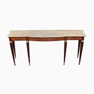 Consola vintage de madera y mármol de Paolo Buffa