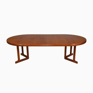Large Danish Modern Extendable Teak Dining Table, 1970s