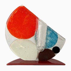 Mehrfarbige Solitair Vase aus Glas von Transform Design, 1980er