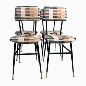 Stühle aus Eisen & Stoff, 1960er
