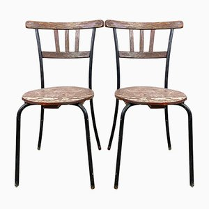 Swedish Wooden Garden Chairs, Set of 2