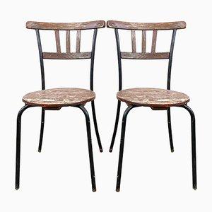 Swedish Wooden Garden Chairs, Set of 2