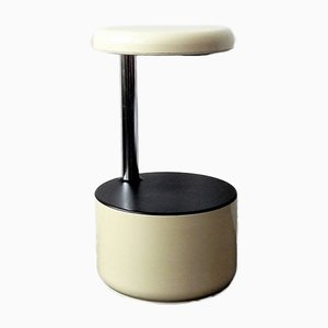 Italian White Golf Stool by Roberto Lucci & Paolo Orlandini for Velca. 1970s