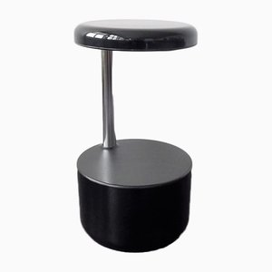 Italian Black Golf Stool by Roberto Lucci & Paolo Orlandini for Velca, 1970s