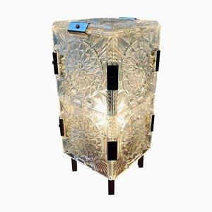 Mid-Century Bohemian Glass Table Lamp by Kamenicky Senov for Kamenický Šenov